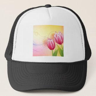 Le résumé fleurit la tulipe chaude de gemme de casquette