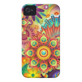 Le résumé, fleurs, illustartion, couleur, fleurit étui iPhone 4