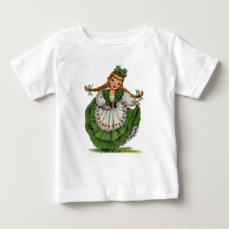 Le rétro danseur irlandais de poupée avec des t-shirt pour bébé