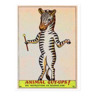 Le rétro livre d'enfants de marche vintage de carte postale