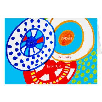 Le rêve vivant soit fou ont le griffonnage coloré carte de correspondance