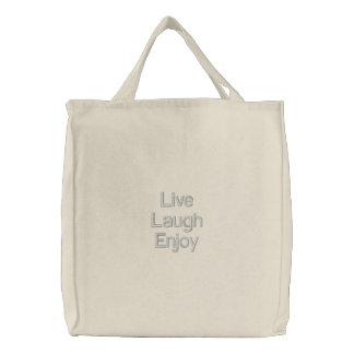 Le rire vivant apprécient le sac de toile