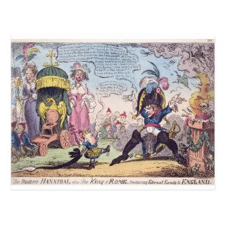 Le roi de Rome, 1814 - bande dessinée montrant le Carte Postale