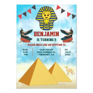 Le Roi égyptien drôle Birthday Invitation de