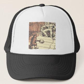 Le roi et le chat avec des bottes casquette