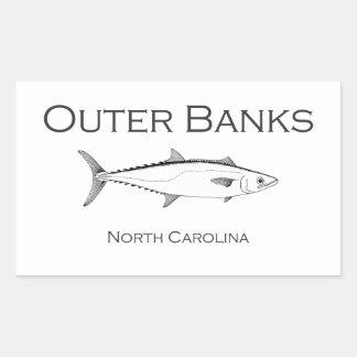 Le Roi externe maquereau de la Caroline du Nord de Sticker Rectangulaire