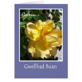 Le rose jaune obtiennent la carte bonne pour
