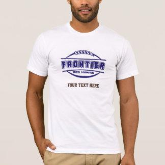Le rouge de frontière colporte la marine de t-shirt