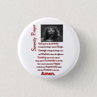 Le rouge de prière de sérénité badge rond 2,50 cm