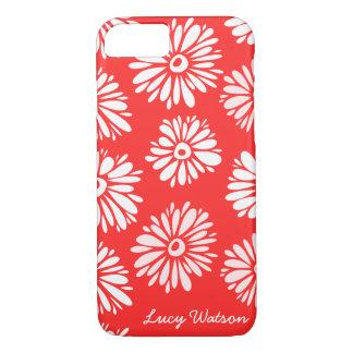 Le rouge fleurit la caisse de l'iPhone 7 Coque iPhone 7