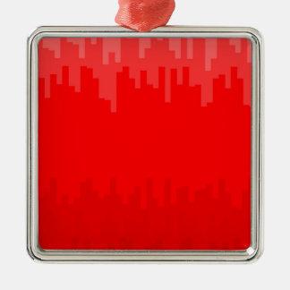 Le rouge se fanent arrière - plan ornement carré argenté