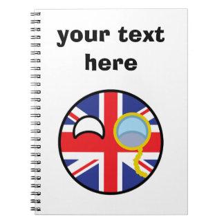 Le Royaume-Uni Geeky tendant drôle Countryball Carnet À Spirale