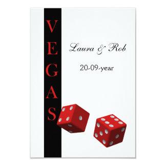 Le rsvp de mariage de Vegas carde la norme 3,5 x 5 Carton D'invitation 8,89 Cm X 12,70 Cm