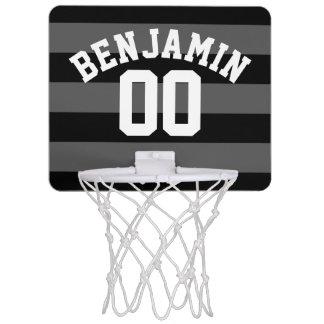 Le rugby argenté noir et gris barre le nombre mini-panier de basket