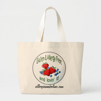 Le sac fourre-tout enorme avec du gluten et l'alle