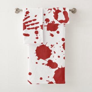 Le sang a imbibé la copie sanglante Halloween de