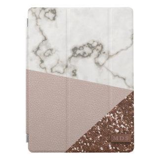 Le scintillement rose d'or de Faux rougissent le Protection iPad Pro