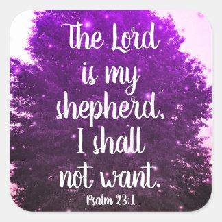 Le seigneur est mes autocollants d'écriture sainte