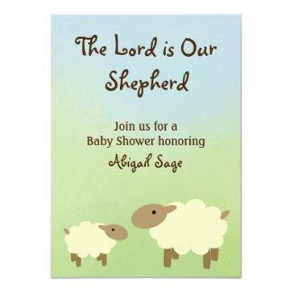 Le seigneur est notre invitation de baby shower de