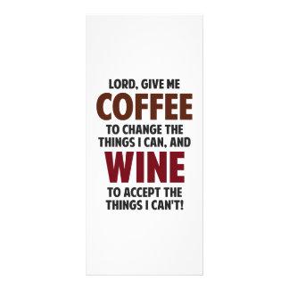 Le seigneur, me donnent le café et le vin carte double en  couleur