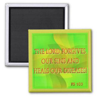 Le seigneur pardonne nos péchés… magnet carré
