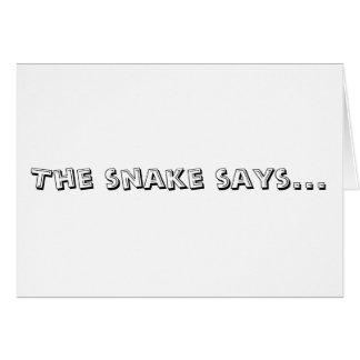 Le serpent indique carte de vœux