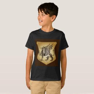 Le short de garçon de T-shirt du dragon des