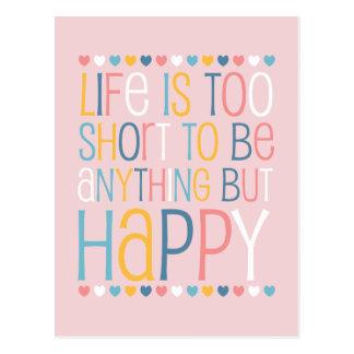 Le short de la vie soit heureux carte postale