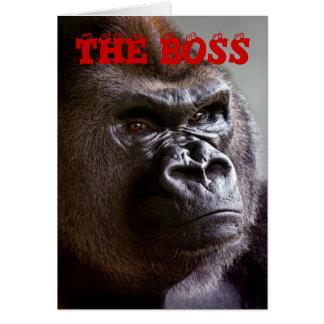 Le Silverback de gorille le patron dirige la carte