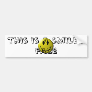 le smiley-visage, ceci est un visage souriant autocollant de voiture