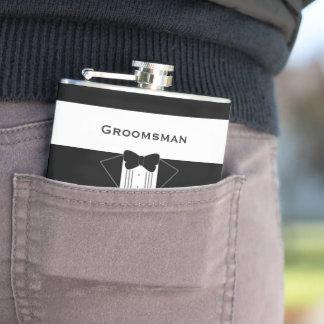 Le smoking Groomsman a personnalisé le flacon de