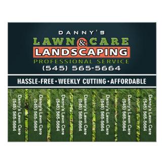 Le soin de pelouse et l'aménagement de 5,6 x 4,5 prospectus 11,4 cm x 14,2 cm