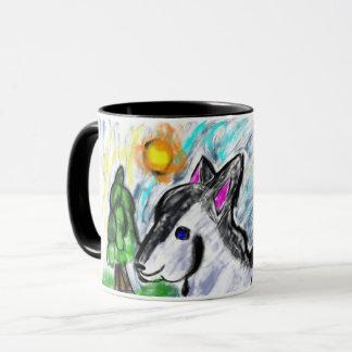 le soleil d'amour de loup mug