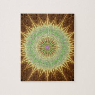 Le soleil de mandala de fractale puzzle