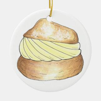 Le souffle crème de vanille souffle ornement de