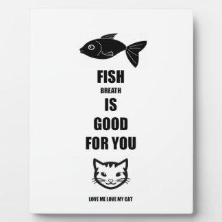 Le souffle de poissons est bon pour vous photos sur plaques
