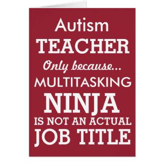 Le Special drôle d'autisme a besoin de professeur Carte De Vœux