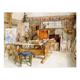 Le studio de l'artiste cartes postales