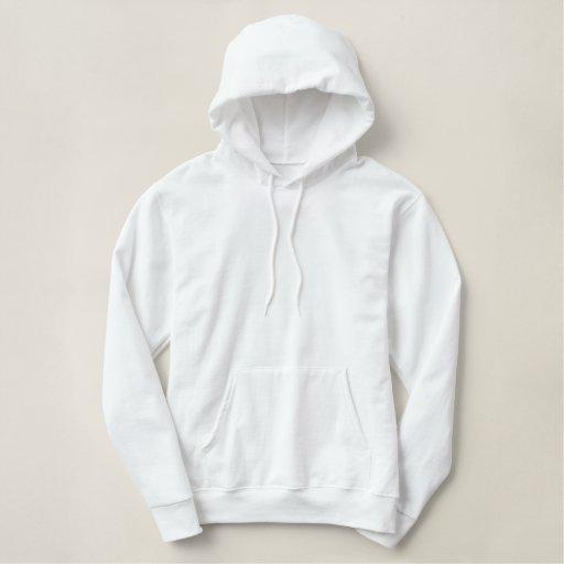 Blanc Embroidered Pull à capuche basique pour femme