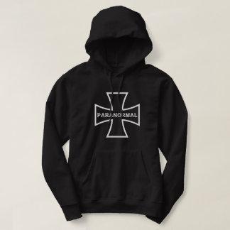 Le sweat - shirt à capuche croisé paranormal noir