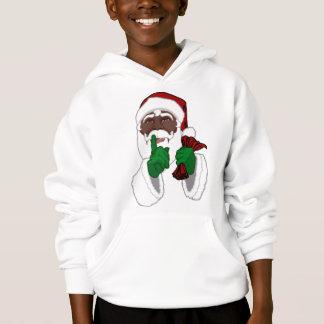 Le sweat - shirt à capuche de Père Noël d'Africain