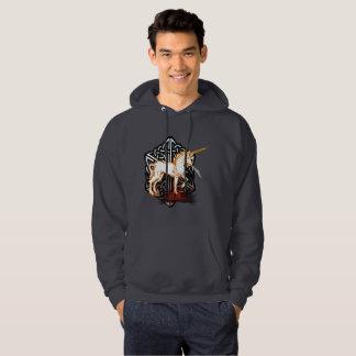 Le sweat - shirt à capuche des hommes de licorne