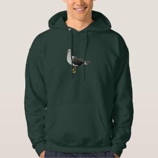Le sweat - shirt à capuche des hommes de mouette