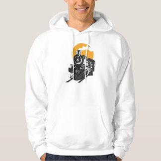 Le sweat - shirt à capuche des hommes de train de