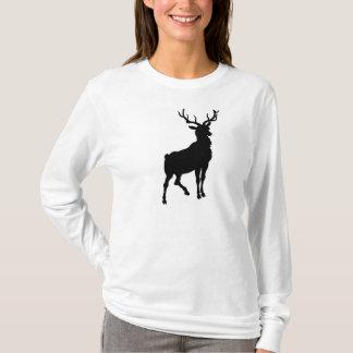 le sweat - shirt à capuche flairé rouge de renne