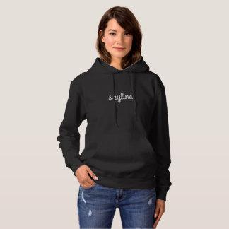 Le sweat - shirt à capuche noir des femmes