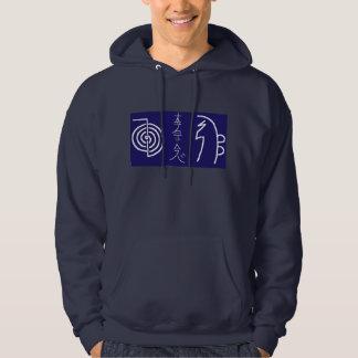 Le sweatshirt à capuchon de base Reiki des hommes