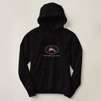 Le sweatshirt à capuchon de lapin des femmes roses