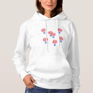 Le sweatshirt à capuchon des femmes de ballons à