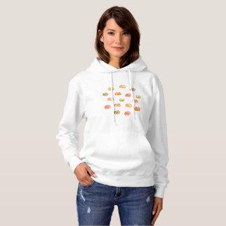 Le sweatshirt à capuchon des femmes de citrouille